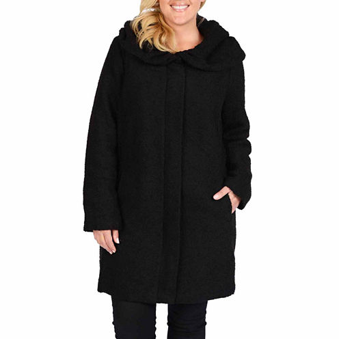 Excelled® Bouclé Hooded Jacket - Plus