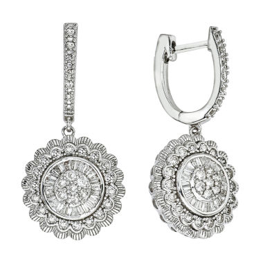 jcpenney.com | Diamond Blossom 1 CT. T.W. White Diamond 14K Gold Drop Earrings