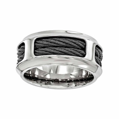 jcpenney.com | Edward Mirell Mens Stainless Steel Titanium Wedding Band