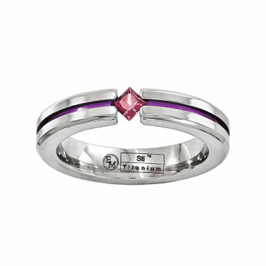 jcpenney.com | Edward Mirell Mens Purple Rhodolite Titanium Wedding Band