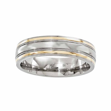 jcpenney.com | Edward Mirell Mens 14K Gold Titanium Wedding Band