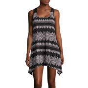 a.n.a® Macrame Sleeveless Stripe Dress
