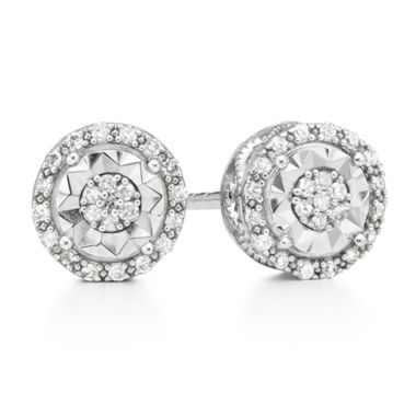 jcpenney.com | LIMITED TIME SPECIAL 1/10 CT. T.W. Round White Diamond Sterling Silver Stud Earrings