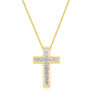 jcpenney.com | Womens 1/4 CT. T.W. White Diamond Gold Over Silver Pendant Necklace