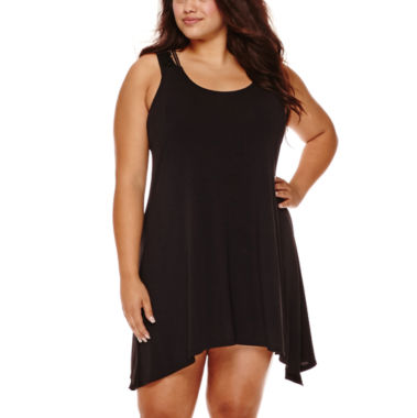 jcpenney.com | a.n.a® Lace-Back Dress Cover-Up - Plus