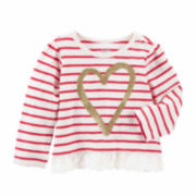 Oshkosh Girls Long Sleeve T-Shirt-Baby