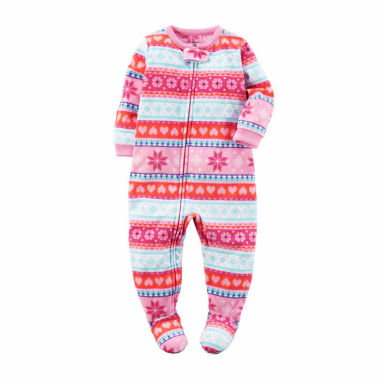 jcpenney.com | Carter's Girls Long Sleeve One Piece Pajamas-Baby
