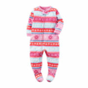 Carter's Girls Long Sleeve One Piece Pajamas-Baby