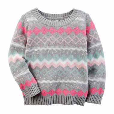 jcpenney.com | Carter's Crew Neck Long Sleeve Cotton Pullover Sweater - Preschool