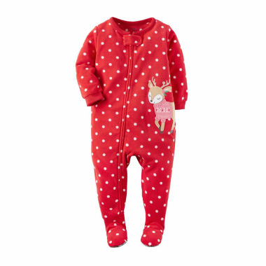 jcpenney.com | Carter's Girls Long Sleeve Footed Pajamas-Baby