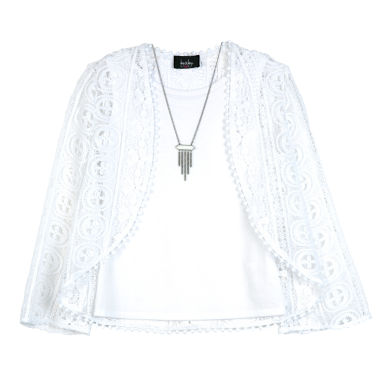 jcpenney.com | By&By Girl Long Sleeve Blouse Lace - Big Kid