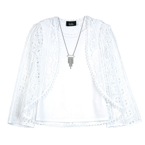 By&By Girl Long Sleeve Blouse Lace - Big Kid
