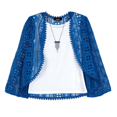 jcpenney.com | By&By Girl Long Sleeve Blouse Lace Czy - Big Kid