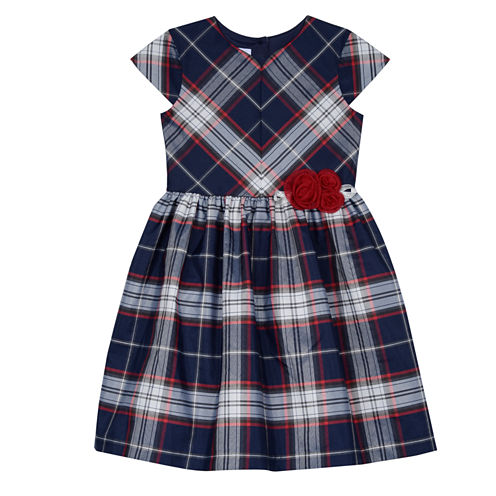 Marmellata Short Sleeve Cap Sleeve Party Dress - Big Kid Girls