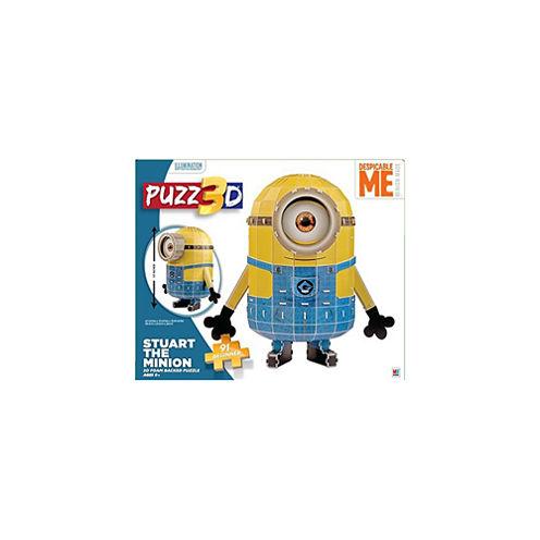 Cardinal Puzz 3D - Despicable Me Minion Made - Stuart The Minion 3D Puzzle: 91 Pcs