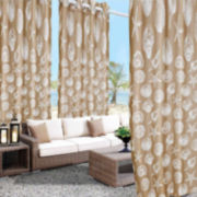 Seashells Outdoor Grommet-Top Panel 50X108""