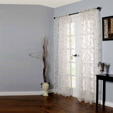 jcpenney.com | Venice Embroidered Rod-Pocket Sheer Curtain Panel