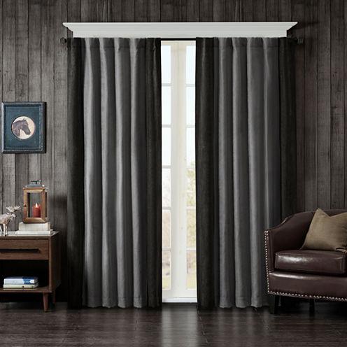 Watson Faux Suede Rod-Pocket Curtain Panel