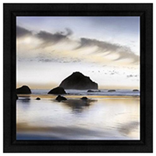 "Light On The Coastline 12X12"" Framed Canvas"