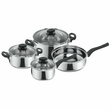 jcpenney.com | 7-pc. Stainless Steel Dishwasher Safe Cookware Set