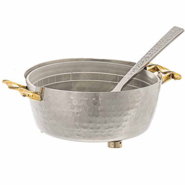jcpenney.com | Classic Touch Two Tone hammered stainless steel Candy Nut Bowl with Spoon