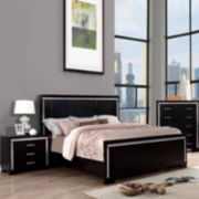 Galio Black 3-Pc Bedroom Set