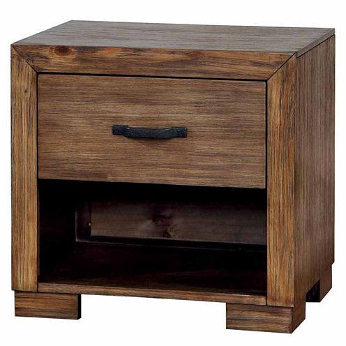 Henderson Rustic 1-Drawer Nightstand