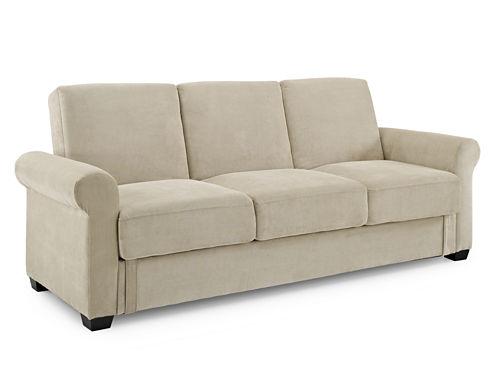 Serta Thomas Microfiber Rolled Arm  Sleeper Sofa