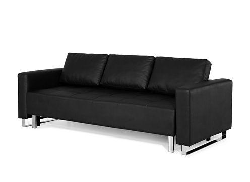 Serta Lincoln Park Microfiber Track Arm Sleeper Sofa