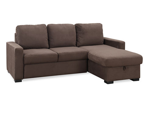Serta Chester Microfiber Track Arm Sleeper Sofa
