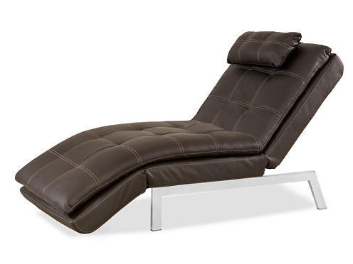 Serta Valencia Leather Chaise
