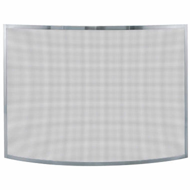 jcpenney.com | Blue Rhino Single Panel Curved Pewter Fireplace Screen