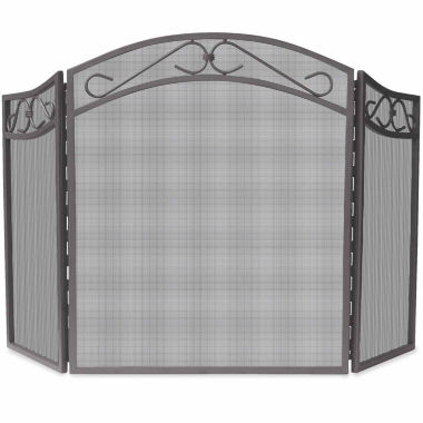 jcpenney.com | Blue Rhino 3 Fold Bronze Wrought Iron Arch Fireplace Screen