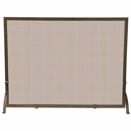 Blue Rhino Single Panel Bronze Fireplace Screen