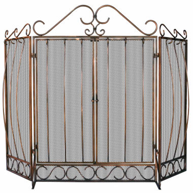 jcpenney.com | Blue Rhino 3 Fold Venetian Bronze Fireplace Screen