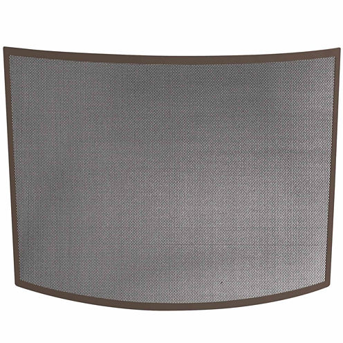Blue Rhino Single Panel Curved Bronze Fireplace Screen