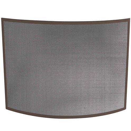 Blue Rhino Single Panel Curved Bronze Fireplace Screen