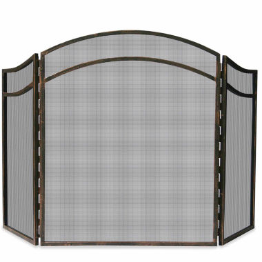 jcpenney.com | Blue Rhino 3 Fold Antique Rust Wrought Iron Fireplace Screen
