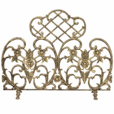 jcpenney.com | Blue Rhino Single Panel Gold Cast Aluminum Fireplace Screen