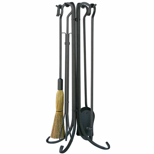 Blue Rhino Olde World Iron Fireplace Tool Set