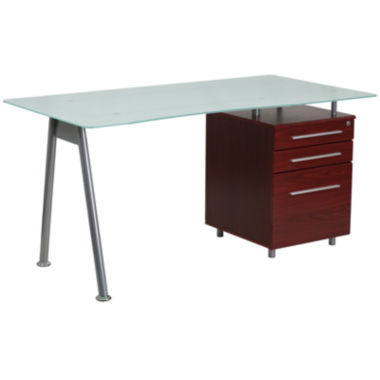jcpenney.com | Three Drawer Glass Desk