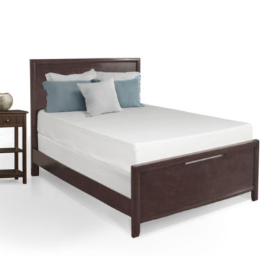 "jcpenney.com | Snuggle Home 10"" Medium Tight-Top Gel Memory Foam Mattress"
