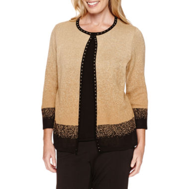 jcpenney.com | Alfred Dunner 3/4 Sleeve Layered Sweater