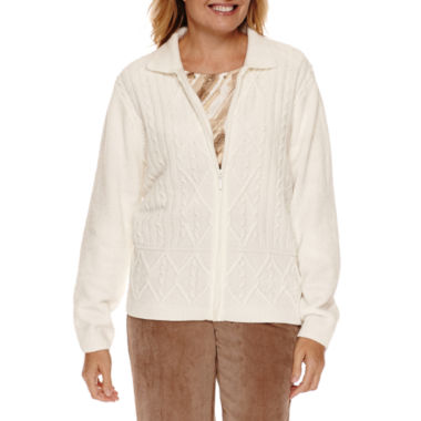 jcpenney.com | Alfred Dunner Twilight Point Long Sleeve Chenille Cardigan