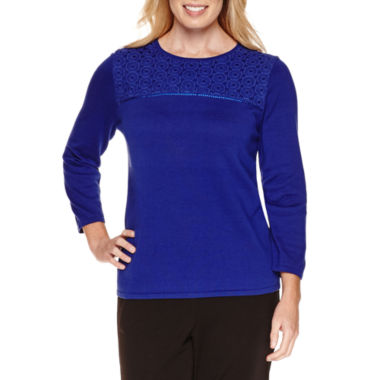 jcpenney.com | Alfred Dunner Long Sleeve Crew Neck Pullover Sweater