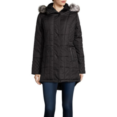 jcpenney.com | KC Collections Sidetab Puffer Jacket with Quilt Details