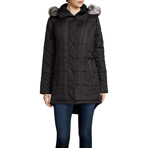 KC Collections Sidetab Puffer Jacket with Quilt Details