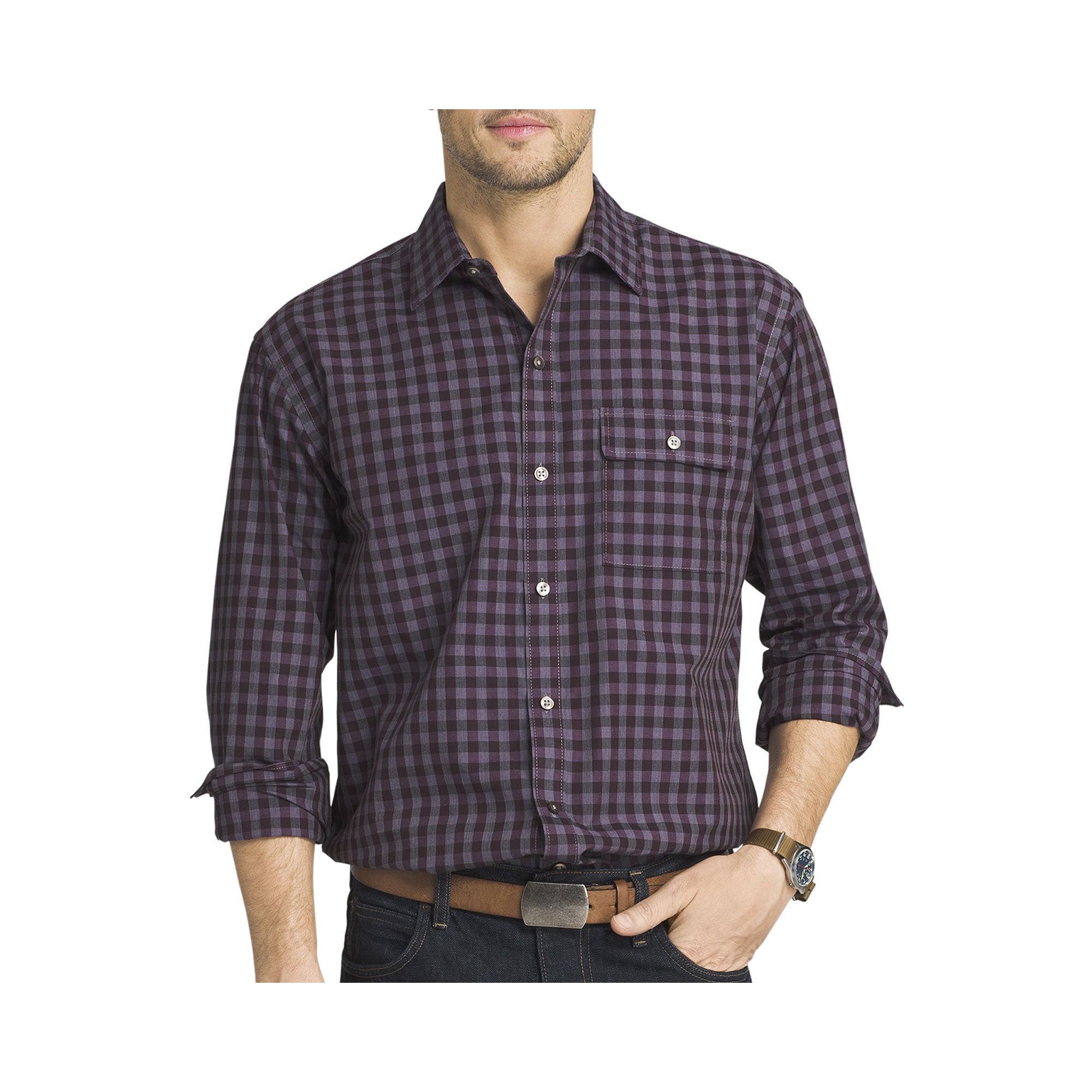 Upc 767672000065 van heusen long sleeve shadow plaid for Van heusen plaid shirts