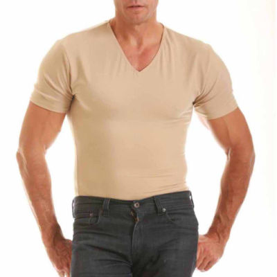 Insta Slim Men's Compression V Neck Shirt by Insta Slim