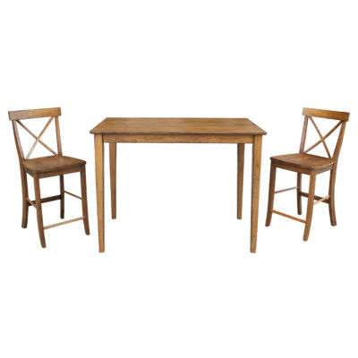 international concepts dining table with x-back stools - jcpenney